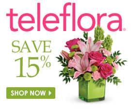 15% off teleflora flowers