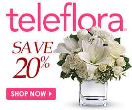 20% off teleflora flowers