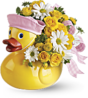 Teleflora's Ducky Delight - Girl Flowers