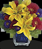 Teleflora's Blue Caribbean Flowers