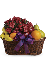 Get Well Gift Basket Fruit and Flower