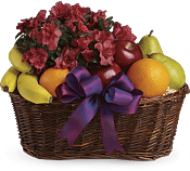 Fruits and Blooms  Gift Basket