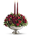 Teleflora's Mercury Glass Bowl Bouquet Flowers
