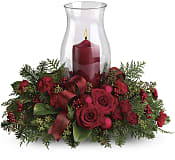 Holiday Glow Centerpiece Flowers