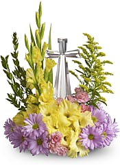 Crystal Cross Bouquet Flowers
