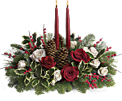 Christmas Wishes Centerpiece Flowers