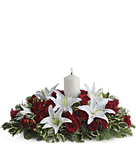 Luminous Lilies Centerpiece, picture