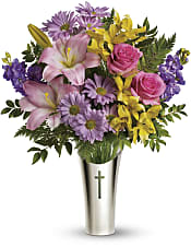 Silver Cross Bouquet Flowers