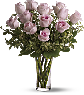 A Dozen Pink Roses Flowers
