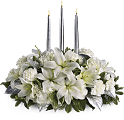 Silver Elegance Centerpiece Flowers