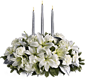 Silver Elegance Centrepiece Flowers