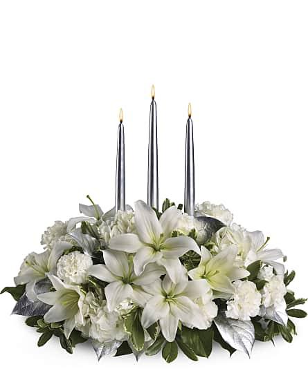 Silver elegance centerpiece flowers silver elegance centerpiece silver elegance centerpiece flowers mightylinksfo