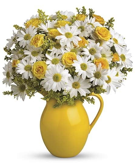 ... Sunny Day Pitcher of Daisies Flowers ...