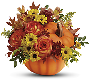 Warm Fall Wishes Bouquet Flowers