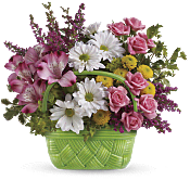Basket Of Beauty Bouquet Flowers