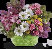Basket Of Beauty Bouquet Flowers