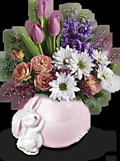 Teleflora's Send a Hug Bunny Love Bouquet Flowers