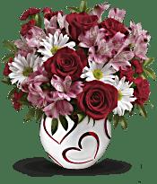 Teleflora's Happy Hearts Bouquet Flowers - Deluxe