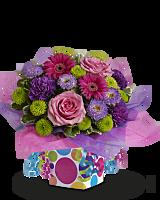 Confetti Present Birthday Flowers