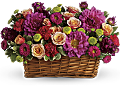 Burst of Beauty Basket Flowers