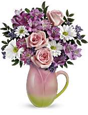 Teleflora's Spring Tulip Pitcher Bouquet Flowers