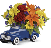 Vintage Ford Pickup Bouquet  Flowers