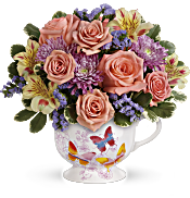 Teleflora's Butterfly Sunrise Bouquet Flowers