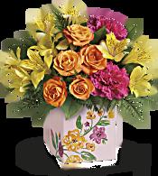 Teleflora's Painted Blossoms Bouquet Flowers