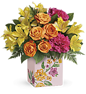 Teleflora's Painted Blossoms Bouquet, picture