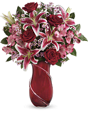 Wrapped With Passion Bouquet Flowers