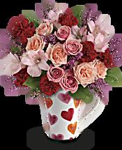 Teleflora's Lovely Hearts Bouquet Flowers