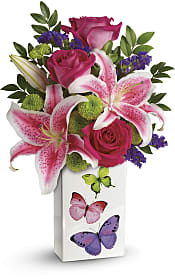 Brilliant Butterflies Bouquet Flowers