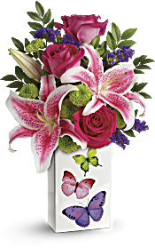 Teleflora's Brilliant Butterflies Bouquet Flowers