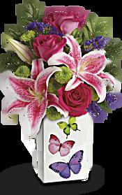Teleflora's Brilliant Butterflies Bouquet Flowers