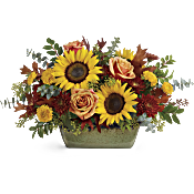 Teleflora's Sunflower Farm Centrepiece Flowers