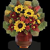 Teleflora's Sunshine Crock Bouquet Flowers