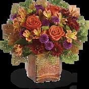 Golden Amber Bouquet Flowers