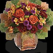 Teleflora's Golden Amber Bouquet Flowers
