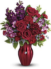 Teleflora's Shining Heart Bouquet Flowers