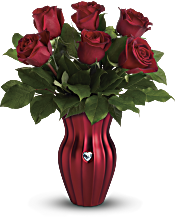 Teleflora's Heart Of A Rose Bouquet Flowers
