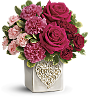 Teleflora's Swirling Heart Bouquet Flowers