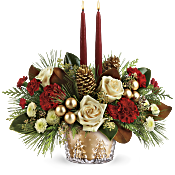 Teleflora's Winter Pines Centerpiece Flowers