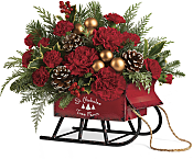 Vintage Sleigh Bouquet Flowers