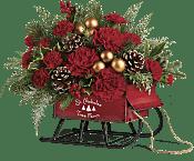 Vintage Sleigh Bouquet Flowers