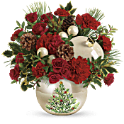 Teleflora's Classic Pearl Ornament Bouquet Flowers