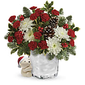 Send a Hug Bear Buddy Bouquet  Flowers
