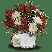 Send a Hug Bear Buddy Bouquet  Flowers