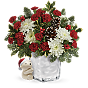Send a Hug Bear Buddy Bouquet by Teleflora Flowers