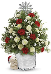 Send a Hug Cuddly Christmas Tree  Flowers