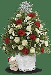 Send a Hug Cuddly Christmas Tree  Flowers
